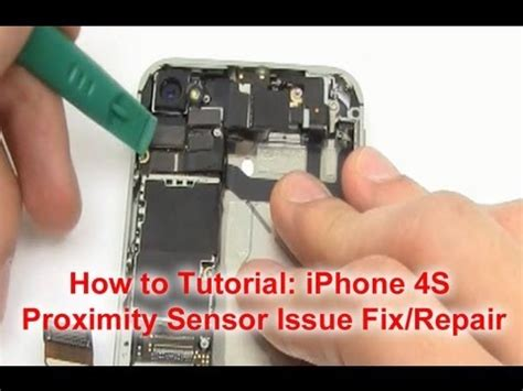 Iphone 4s On Sensor Ori iphone 4 and 4s proximity sensor issue fix how to make