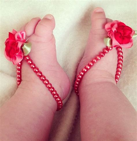 how to make baby barefoot sandals with ribbon baby barefoot sandals foot jewelry baby infant by