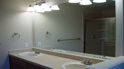 Frameless Bathroom Mirror Large Easy Installation Frameless Bathroom Mirror The Homy Design