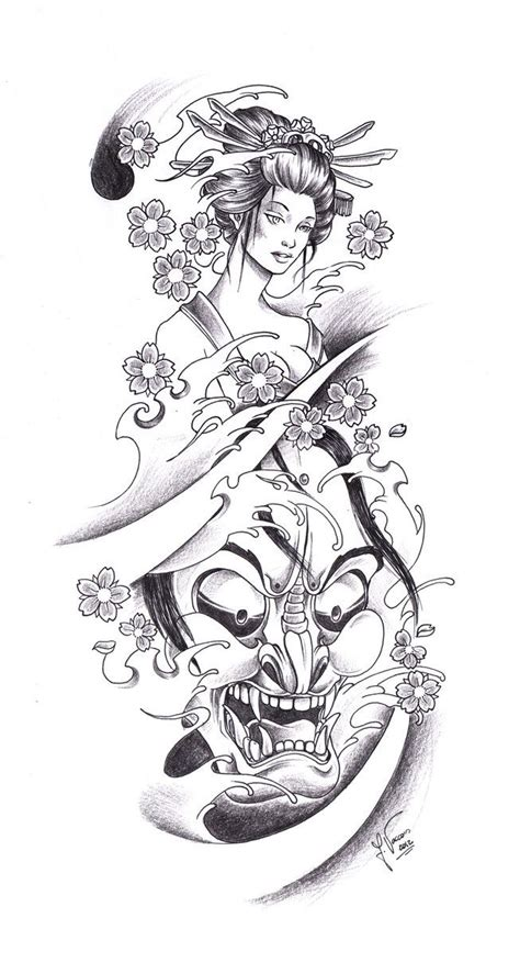 geisha tattoo design 17 best ideas about oni on japanese