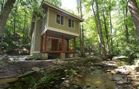 Small Log Cabin House Plans Jasper Georgia Creekside Woodland Cabin For Sale