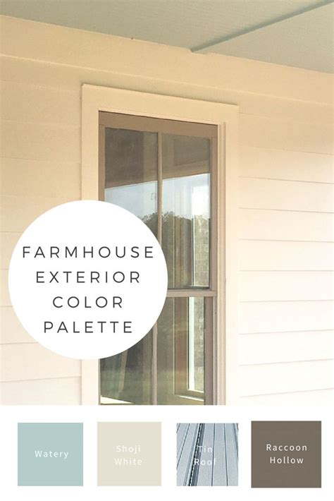 building our farmhouse paint trim exterior colors window and house