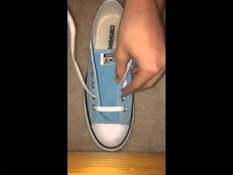 how to bar lace converse low tops simple way how to lace shoes normally doovi