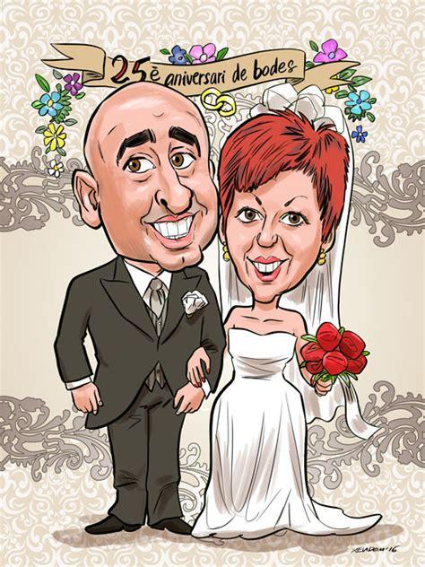 25 aos de caricaturas 1516838211 regalos originales 25 a 241 os de casados caricaturas aucas retratos ilustraciones
