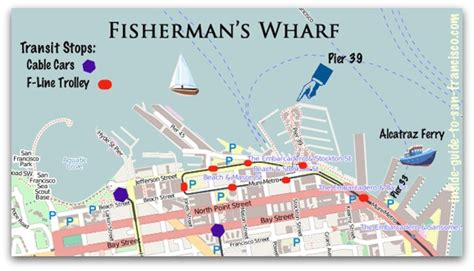 san francisco map of fishermans wharf pier 39 san francisco tips from a local