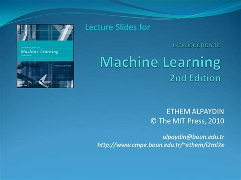 introduction to machine learning ppt video online download introduction to machine learning 2nd edition ppt video