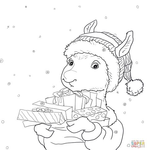 llama llama holiday drama coloring page free printable