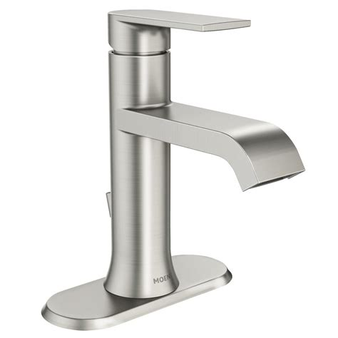 MOEN Genta Single Hole Single Handle Bathroom Faucet in Spot Resist Brushed Nickel WS84760SRN