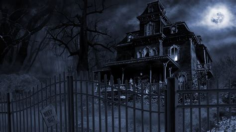 haunted house wallpaper 808732