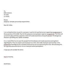 templates for sponsorship letters cover letter sponsorship