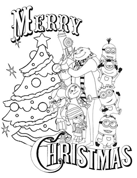 despicable me christmas coloring page h m coloring pages