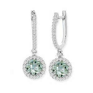 green amethyst earrings tivolia collection green quartz green amethyst and dangle earrings
