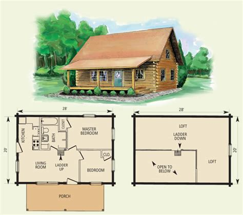 Log Cabin Floor Plans With Loft | cumberland