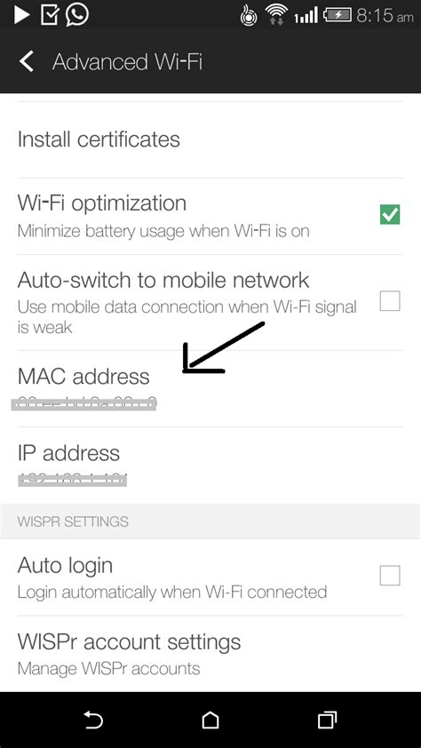Find Address Of Find Mac Address Of Android Mobile Or Tablet Android Mobile