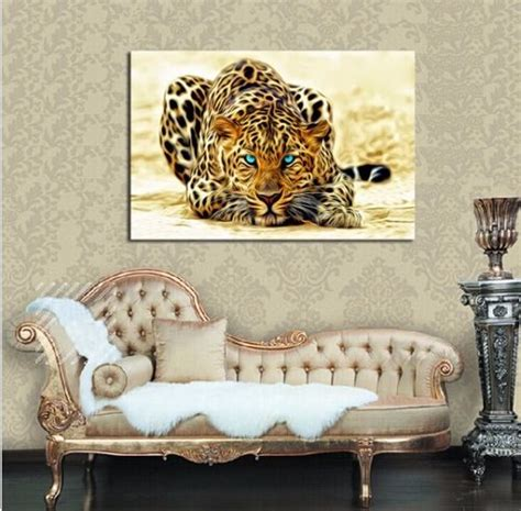 Cheetah Print Home Decor Not Framed Hd Canvas Print Home Decor Leopard Cheetah Animals Wall Decor Ebay