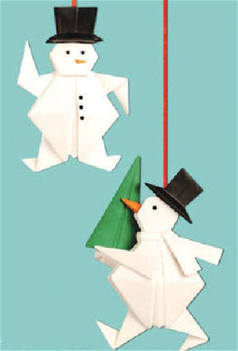 snowman origami ornament happy holidayware