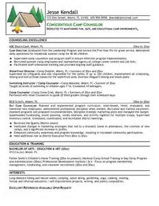 free c counselor resume exle
