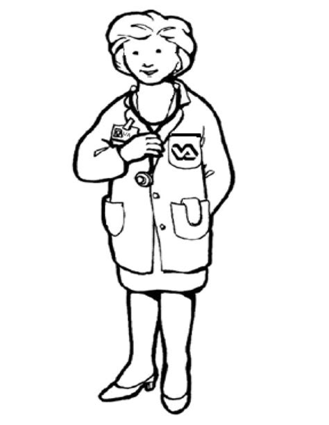 woman doctor coloring page picture of doctor free download clip art free clip art