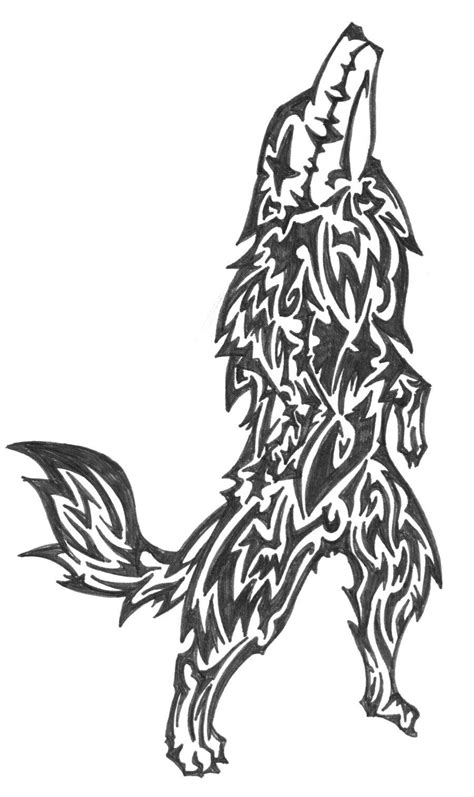 Wolf Tattoo Design Black And White Wolf Tattoo Design Art Black Wolf Designs
