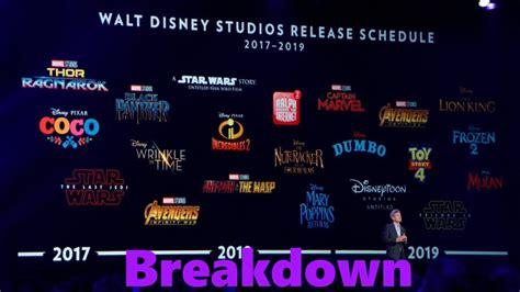 disney movie schedule 2017 walt disney studios release schedule 2017 2019 breakdown