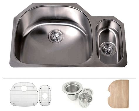 32 Inch Undermount Kitchen Sink 32 Inch Stainless Steel Undermount D Bowl Offset Kitchen Sink Modern Kitchen Sinks