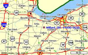 Willard Ohio Map by Www Willardcog Com Directions