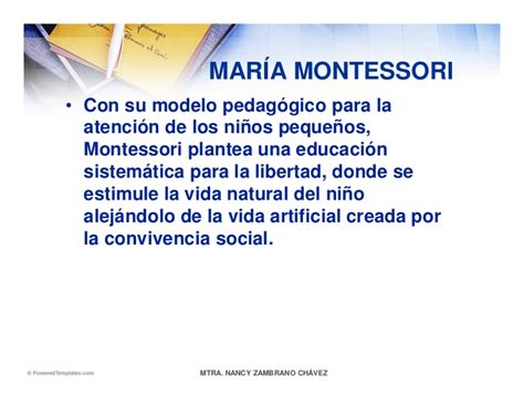 Modelo Curricular De Montessori Ideaspedagogicasenpreescolar
