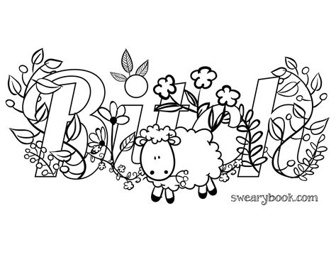 Pdf Swear Word Coloring Book Featured by Fresh Swear Word Coloring Pages Pdf Gallery Free