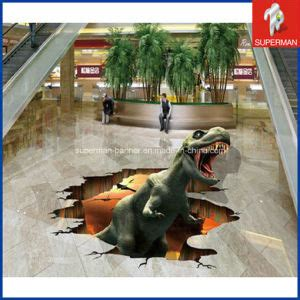 The Best 3d Wall Sticker Model Bahan Kayu Ringan china promotion custom supermarket vinyl 3d dinosaur floor decals sticker china 3d floor