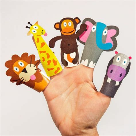 How To Make Finger Puppets With Paper - jungle animals paper finger puppets printable pdf