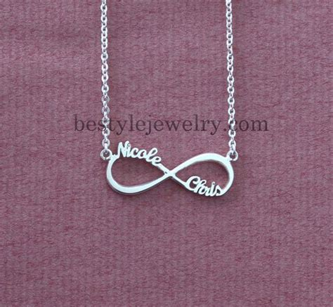 infinity sign with names infinity symbol necklace name necklace infinity