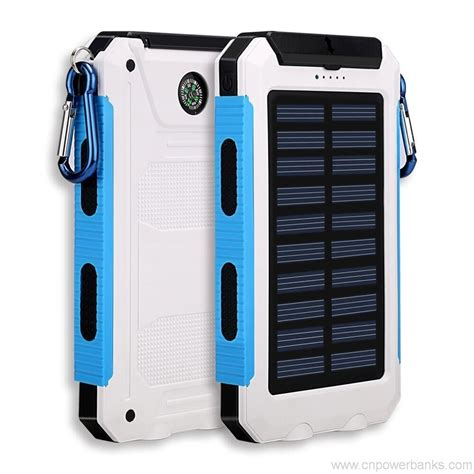 Power Bank Solar Cell 8000mah solar cell phone charger led novelty power