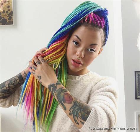 box braids coloridas 20 fotos pra se inspirar em degrad 234 s