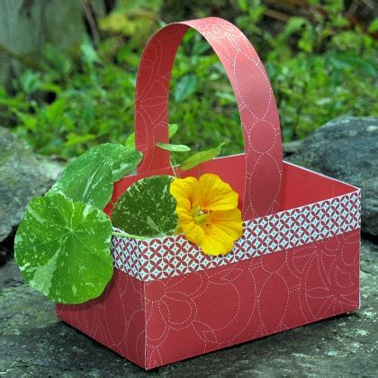 Paper Basket Craft - paper berry basket disney family