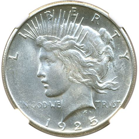 1925 silver dollar value 1925 s peace silver dollar 1 ngc ms64 buy sell