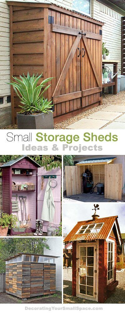 How To Create Storage In A Small House 90 Best Images About Shed Plans Amp Building Kits On