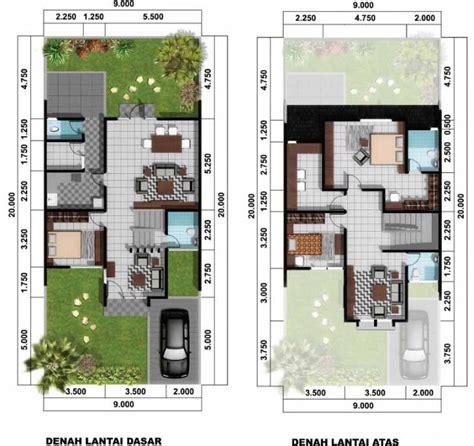 denah rumah minimalis 2 lantai rumah idaman