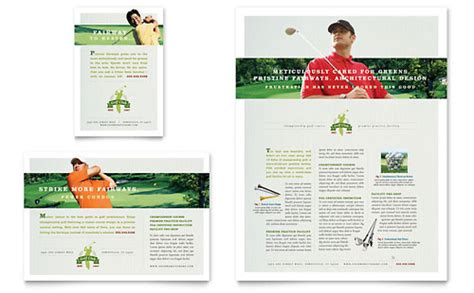 Golf Course Instruction Newsletter Template Design Golf Newsletter Templates