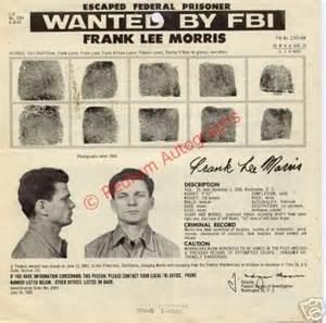 Frank lee morris original fbi wanted poster