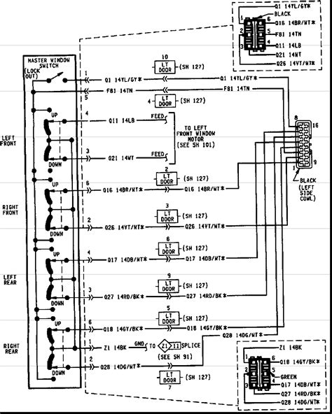 1999 jeep power window wiring diagram wiring