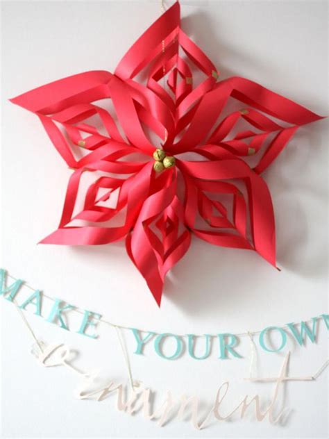 Paper Poinsettia Craft - photo page hgtv