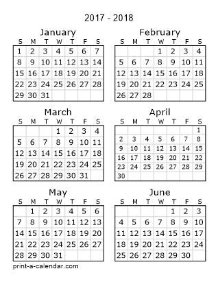 free 6 month calendar template 2016 printable calendars