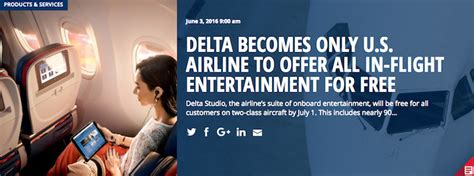 delta flight entertainment delta becomes first us airline to offer all in flight