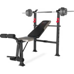 cap strength deluxe standard bench with 100 lb weight set