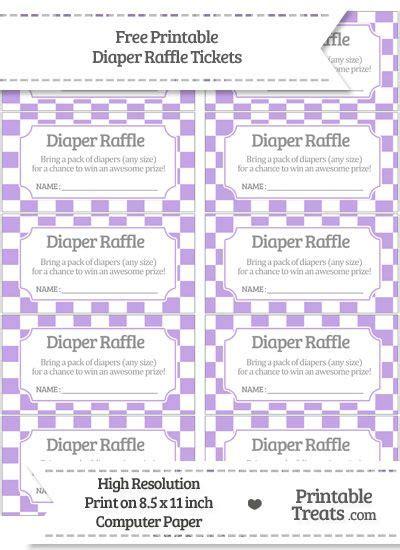 fun printable raffle tickets free pastel purple checker pattern diaper raffle tickets