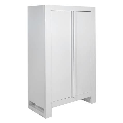 High Gloss White Wardrobes by Tutti Bambini Rimini Wardrobe High Gloss White Kiddies Kingdom