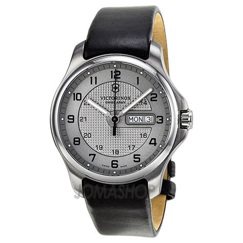Swiss Army Day Date victorinox swiss army officer day date grey stainless steel s 2415502 s