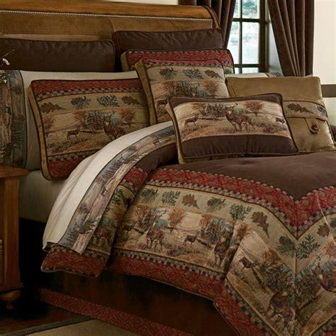 deer valley comforter bedding  croscill living   woods log cabin living comforters