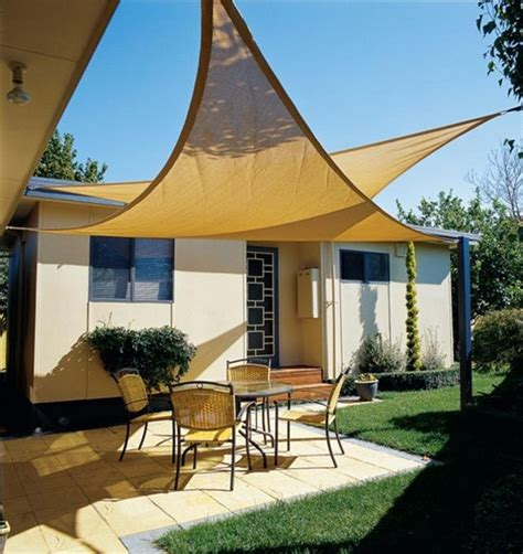 backyard sails shades diy wishlist a patio shade sail apartment therapy