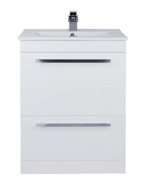 Bathroom Vanity Units Suppliers Beo Warner 600mm Floor Standing 2 Drawer Vanity Unit And Basin